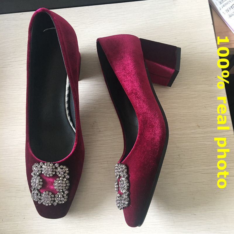 ANOVISHANA Zapatos De Mujer Women's Pumps Brand Rhinestone Satin Women Shoes High Heel Pumps Shoes Woman Footwear Stiletto D046