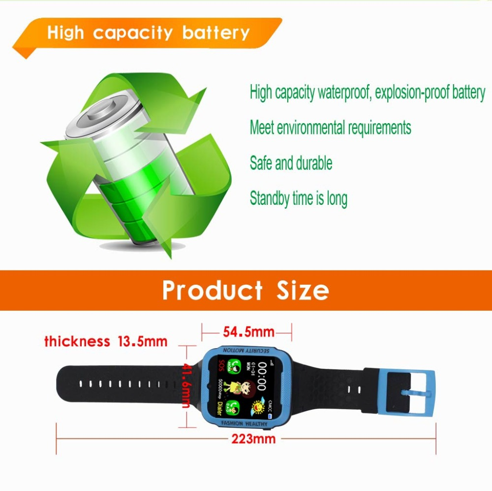 Children Watch GPS SOS Smart Sports Baby Kids Electronic Digital Positioning Dial Call Wristwatch For Boys And Girls Reloj Nino