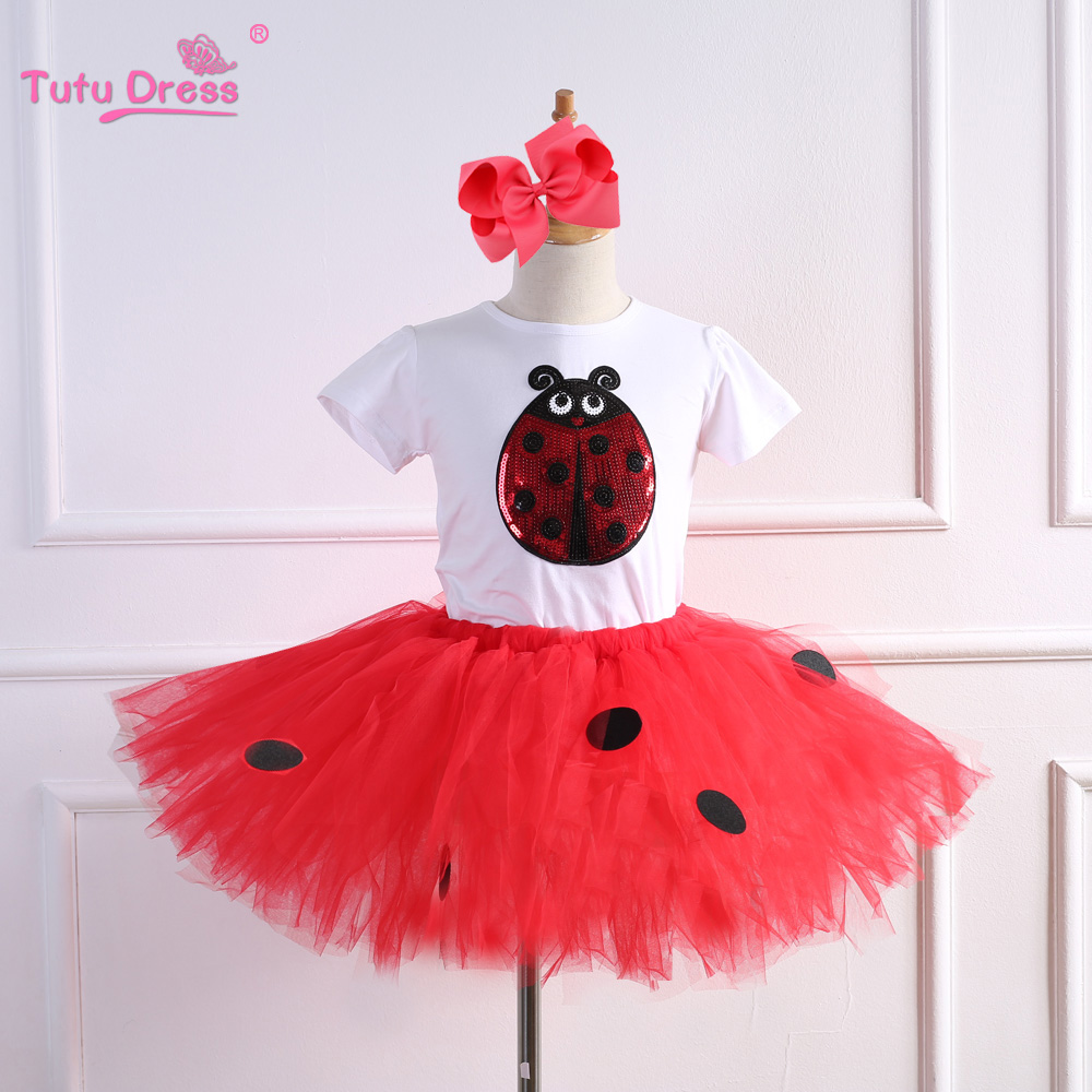 SUMMER Children Sets Tutu Skirt Cotton Baby Girl Shirt Rainbow Skirt Cute Toddler Kids Baby Girls Suit Set baby cherry print dress summer girls kids children skirt