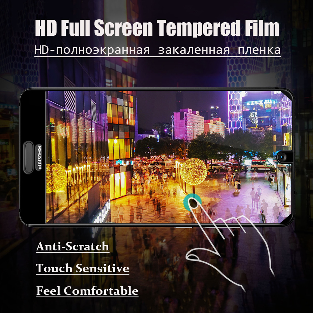 Image 3 - JONSNOW Full Coverage Glass For Sharp Aquos S2 Tempered Glass for Aquos C10 9H Explosion proof Screen Protector Protective Film-in Phone Screen Protectors from Cellphones & Telecommunications
