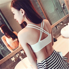 New  Solid Color Sexy Cross Strap Beauty Back Seamless Bras Short Top Tube Brap Sling Underwear