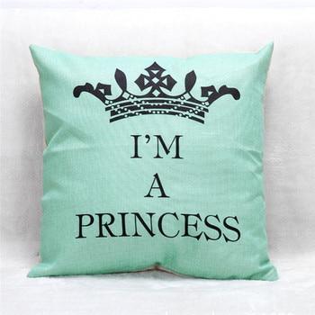 Aqua Princess Cushion Cover