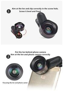 Image 5 - Kase 4 ב 1 עדשת טלפון סגנון מצלמת DSLR השני ערכת זווית רחבה/מקרו/עין דג/עדשת טלה עבור Smartphone iPhone 8 סמסונג Huawei