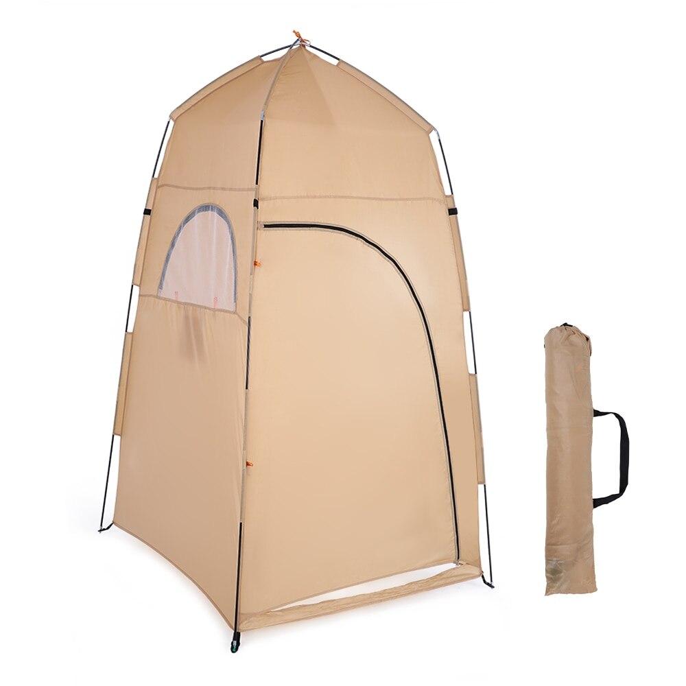 Tomshoo novo portátil ao ar livre chuveiro banho mudando montagem quarto barraca de acampamento abrigo praia privacidade wc tenda para ao ar livre 2019