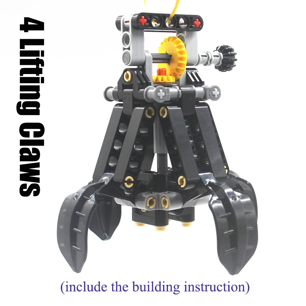 Building Blocks MOC Technic Parts TECHNIC 4 Lifting Claws Of The CRAWLER CRANE Compatible With Lego For Kids Boys Toy
