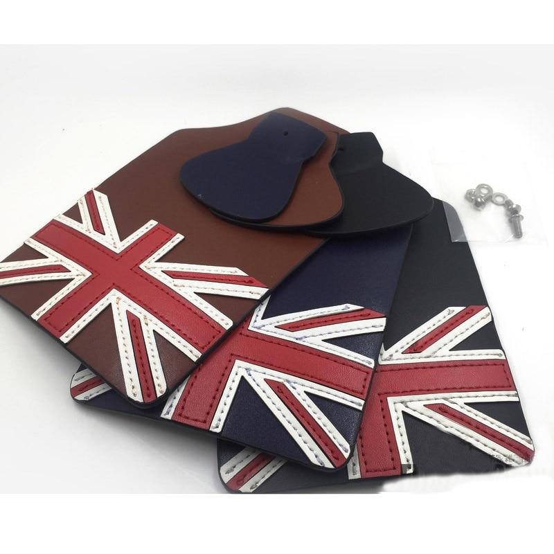 купить bike fender for brompton foldingbike manual Leather mudguard front+rear British flag Mud accessories Bicycle Accessories недорого