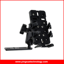 Motorcycle Smart Phone Holder Stand with Grip Mount and Double Socket Arm