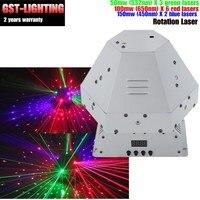 Rotation laser moving head rgb licht scannen haltepunkt wirkung dj bühne licht-in Bühnen-Lichteffekt aus Licht & Beleuchtung bei