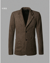 2017 Casual Men Blazer business Slim fit Costume Homme Suit Blazer Masculino Male Woolen Suits Jacket blazer hombres ocasionales