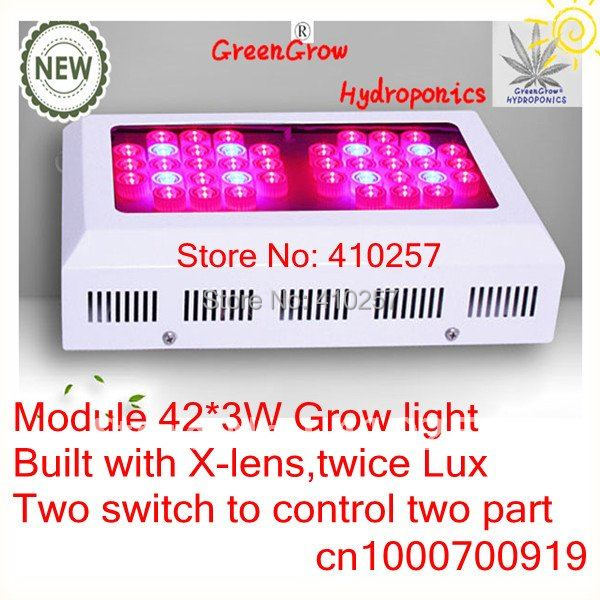 Wholesale Modular 120W LED Grow Light  for medical plants with 42 pcs 3W chip leds,dropshipping