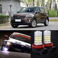 Novos 2 pcs 72 SMD Lâmpadas LED luz de Nevoeiro Luz de Circulação Diurna Para Hyundai IX25 2014-2015