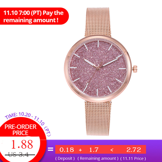 vansvar Women Watches Bracelet Watch Ladies Casual Rose Gold Stainless Steel Qua