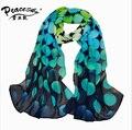 2015 Весной и осенью бархат шифоновый шарф sunsreen мыс пляжное полотенце горошек шелковый шарф оптовый шарф Peacesky Бренд