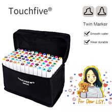 Touchfive 30/40/60/80 Color Markers Sketch Set For Manga Design Double Head Brush Pen For School Art Supplies