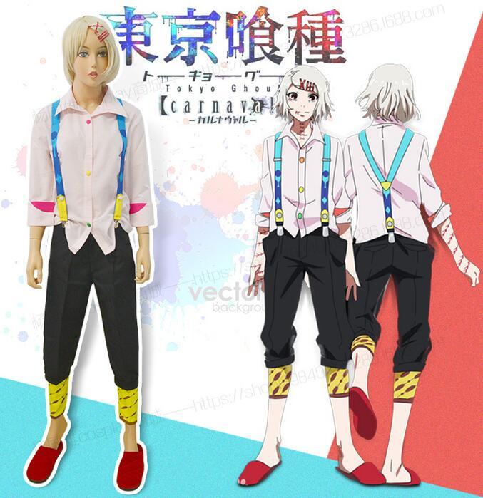 Токио вурдалак Juzo Джузо/Рей Костюмы для косплея Juuzou Suzuya полный набор вечер Единый (рубашка + брюки) + подтяжки + охранник нога)