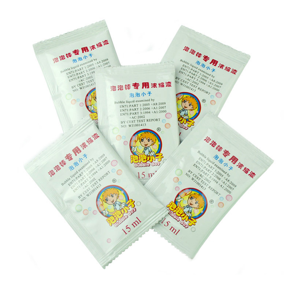 5 Bags 15ML Professional Bubble Water Concentrate For Bubble Gun Or Blowing Bubbles Stick