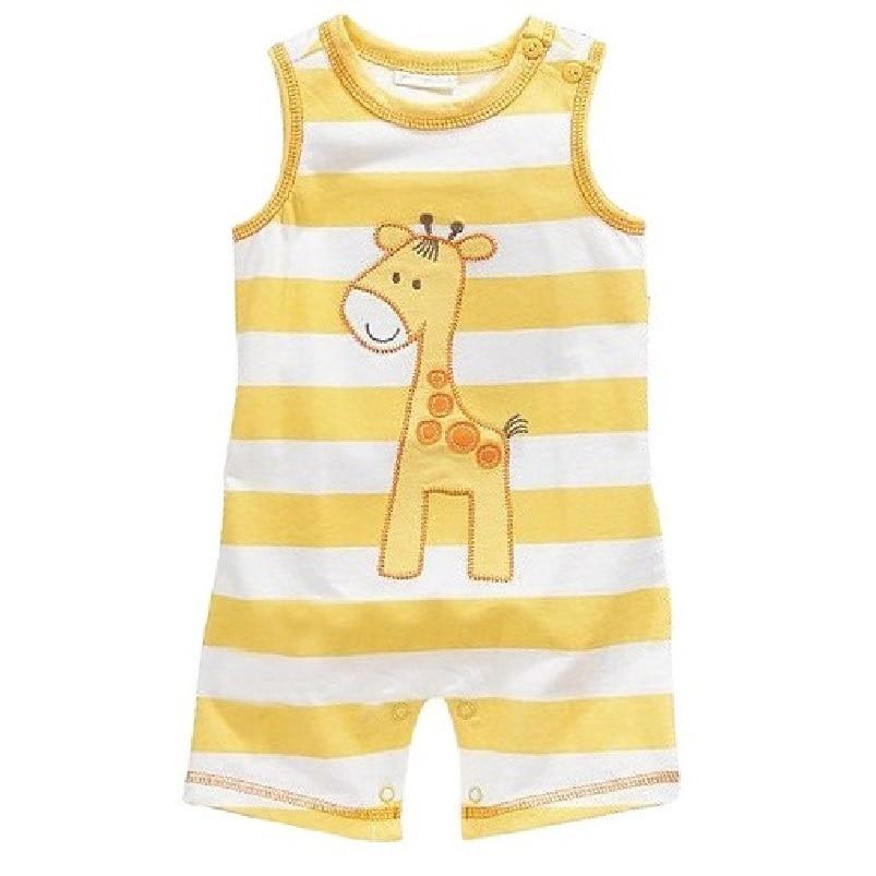Summer Baby boy Romper bebe body 100% Cotton Baby boys clothes newborn jumpsuit Sleeveless Giraffe Shortall