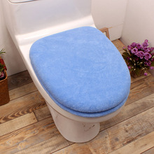 Bathroom Solid Color Acrylic Thickened Toilet 2 Piece Set Button Type Toilet Seats Twinset U/Round/Square Toilet Cover Set недорого