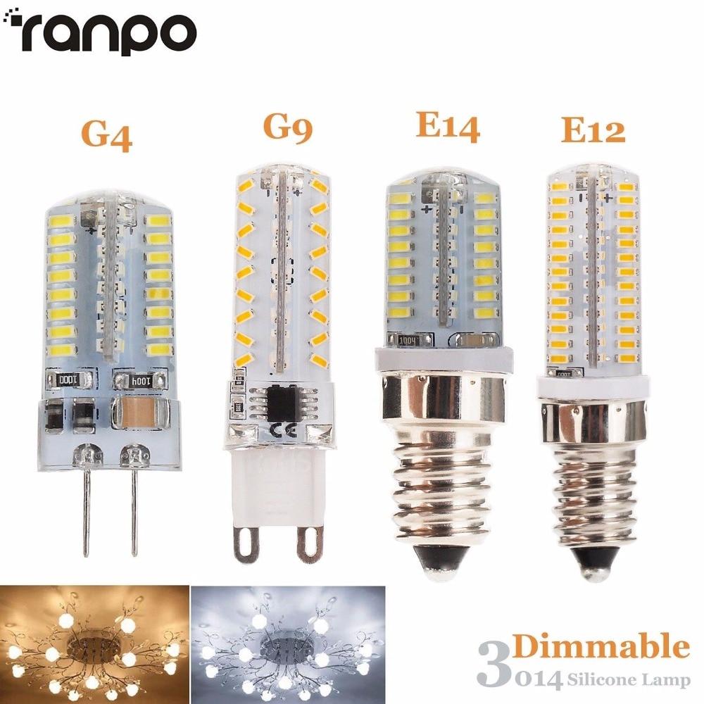 LED Bulbs LED Light Bulbs G4// G9// E14 4 Watt 260 Lumen Warm White//Cool White Lamps 220V Daylight comfortable glow Color : Warm White, Size : G9