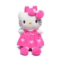 Adorável kity Pelúcia Mochilas Para Meninas Dolls & Toys Stuffed Crianças Sacos de Escola Do Bebê Mochila Crianças Sacos 4 cores