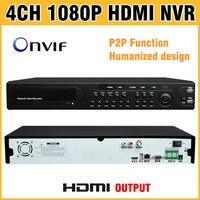 High Quality 1080P HDMI Output NVR 4CH 8CH 16CH ONVIF H 264 CCTV DVR 4CH Recording