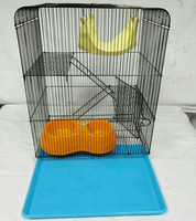 Simple Hamster Cage Three layer Folded Iron Ribbon Chassis Guinea Pigs Stomach Small Pets AP11211459