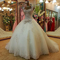 2016 Design Romantic  New Bandage Crystal Tulle Sweetheart Luxury  Applique Wedding Dress Bridal  Ball Gown Chapel Train
