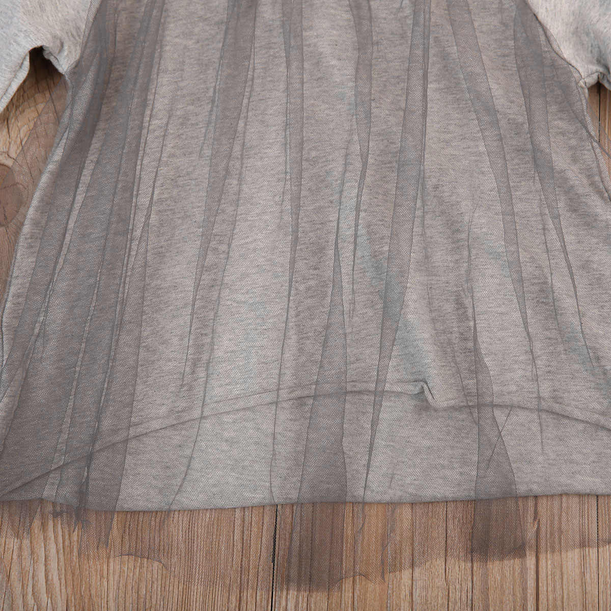 Baby Girls Dress Long Sleeve Loose Toddler Kids Princess Casual Party Birthday Tulle Dresses 0-4Y