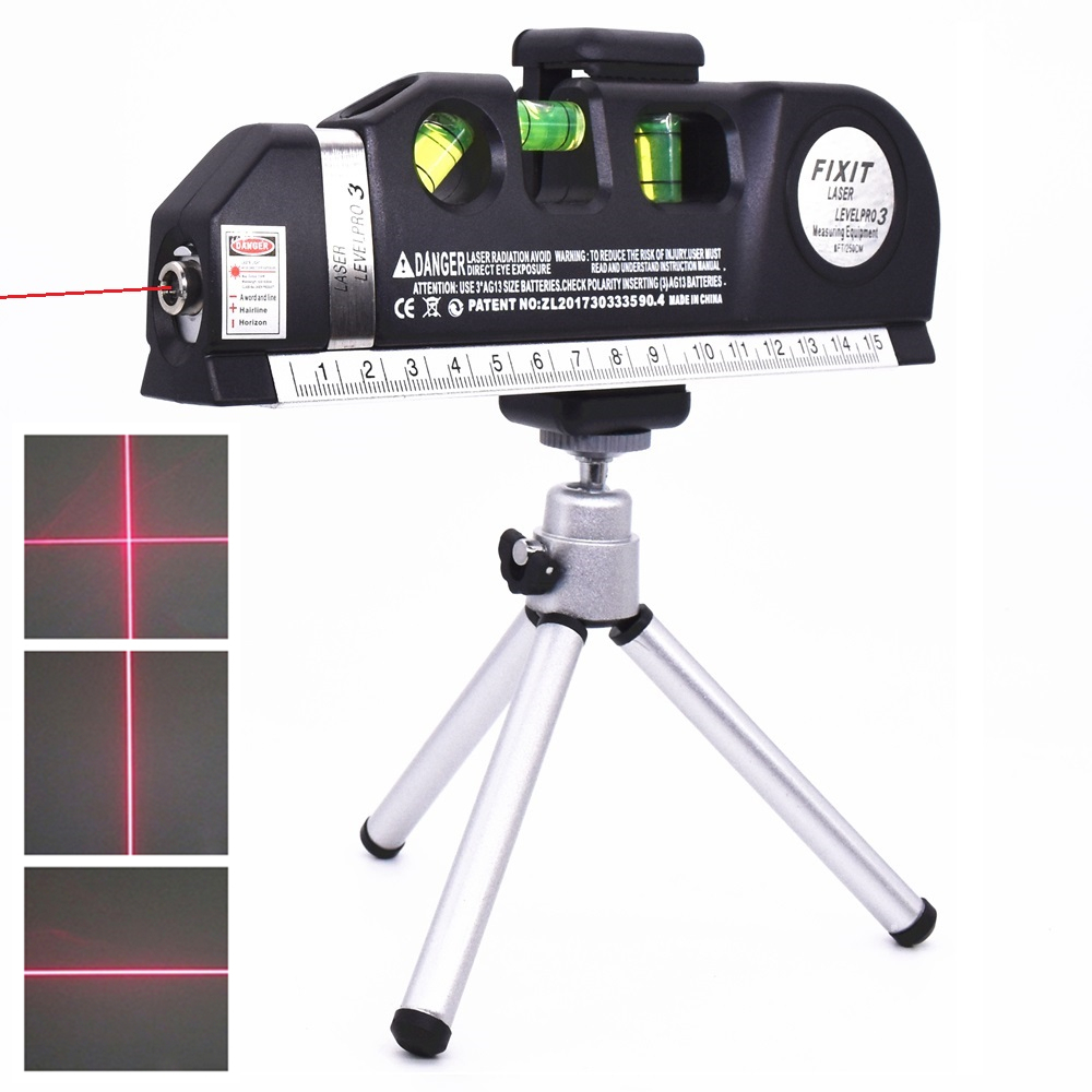 US $4 68 30% OFF Laser Level Measure Tape Vertical Horizontal Lasers  Adjusted Multifunctional Standard Ruler Cross Lines Instrument with  Tripod-in