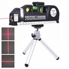 Vertical horizontal nível laser fita ajustável multifuncional padrão régua cruz linhas instrumento de medição com tripé
