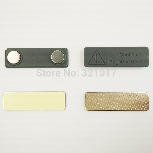 100pcs Magnetic Name Tag Strong Permanent Magnetic badge Free Shipping