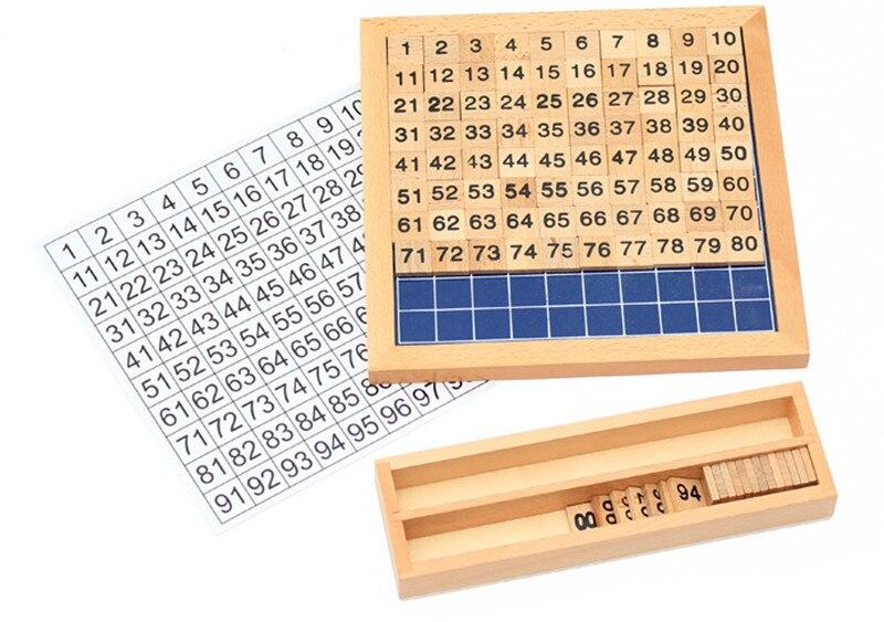 Nouveaux blocs en bois jouet bébé jouet cent conseil mathématiques pour enfants apprentissage et éducation en bois enfants jouets livraison gratuite