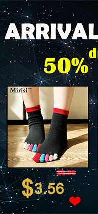 Colorful woman pure cotton comfortable toe socks  (3)