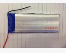 3.7V polymer lithium battery 803280 2500MAH tablet mobile power DIY Rechargeable Li-ion Cell