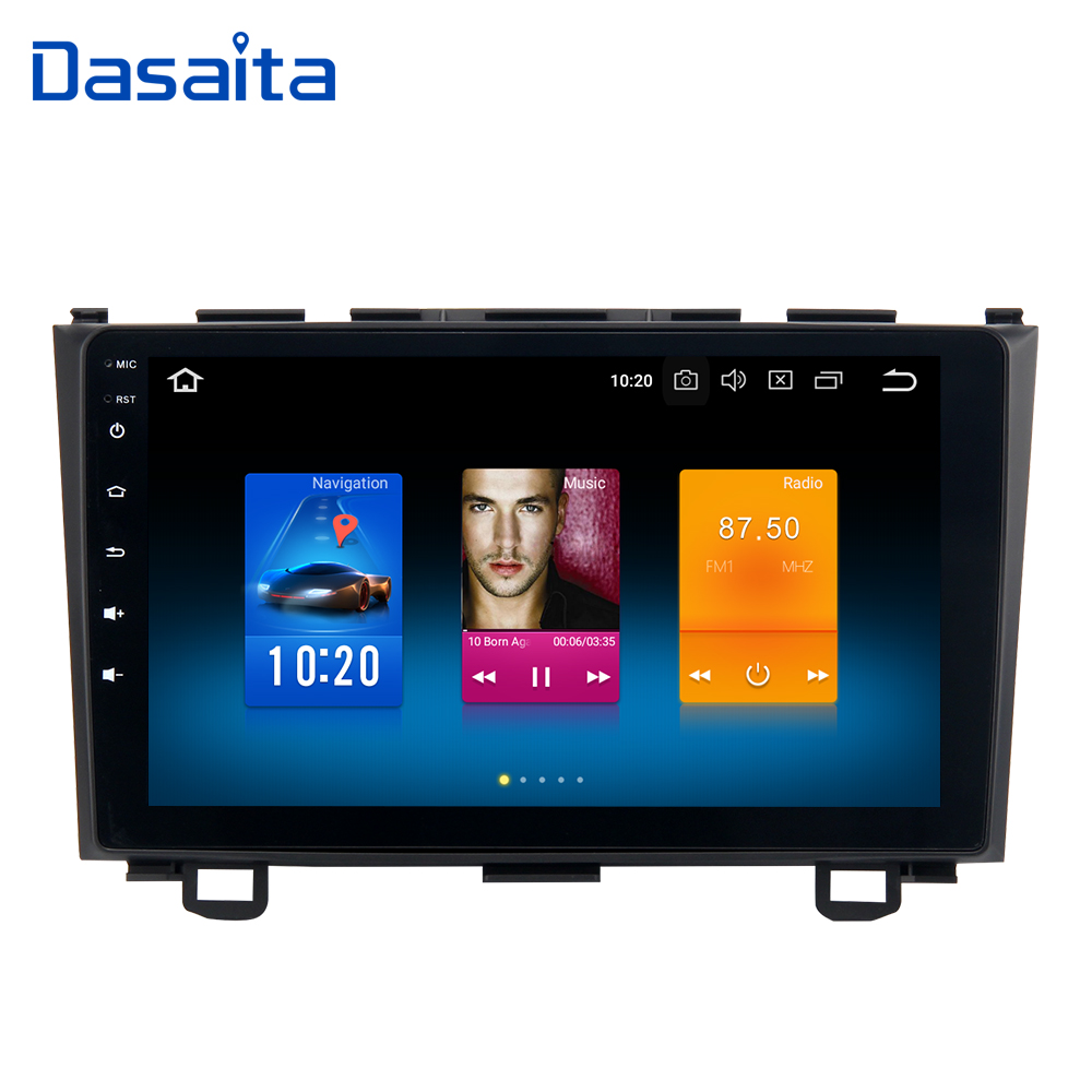 Dasaita 9 Android 8.0 Car GPS Radio Player for Honda CRV 2006-2011 with Octa Core 4GB+32GB Auto Stereo Multimedia Video DAB+ ned 10pcs 20x20mm practical stainless steel corner brackets joint fastening right angle thickened brackets for furniture home