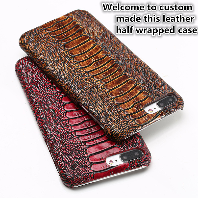 CH15 Genuine Leather Half Wrapped Case for font b OnePlus b font font b 7 b
