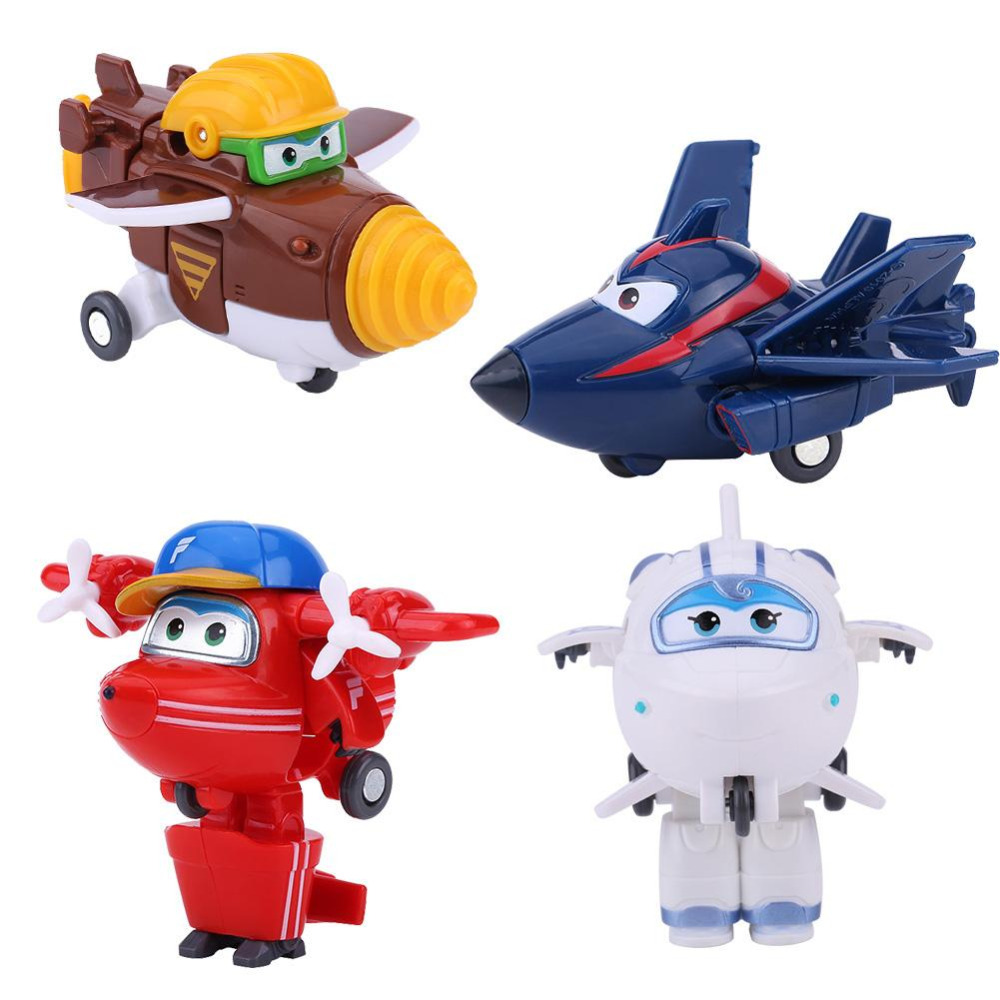 5CM Height Mini Plane Toy Mini Airplane Rot Toys Super Wings Animation Action Figure Transforming Robot Airplane Kid Toys newest 18pcs set super wings mini figures toys superwings jett airplane robot action figures birthday gift for kid brinquedos