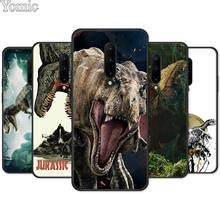 cartoon Dinosaur Open Mouth Black Case for Oneplus 7 7 Pro 6 6T 5T Silicone Phone Case for Oneplus 7 7Pro Soft TPU Cover Shell