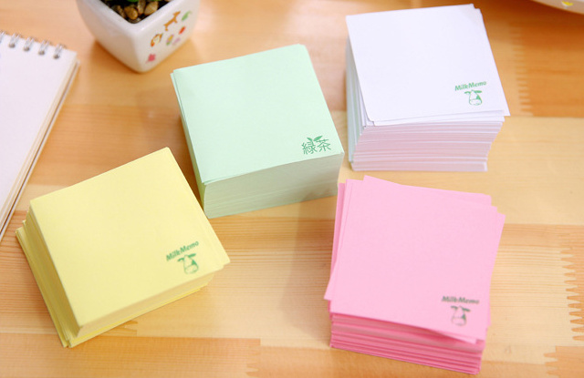 Creative milk memo pad sticky post it note diy kawaii paper sticker pads korean stationery office supplies in memo pads from office school supplies on