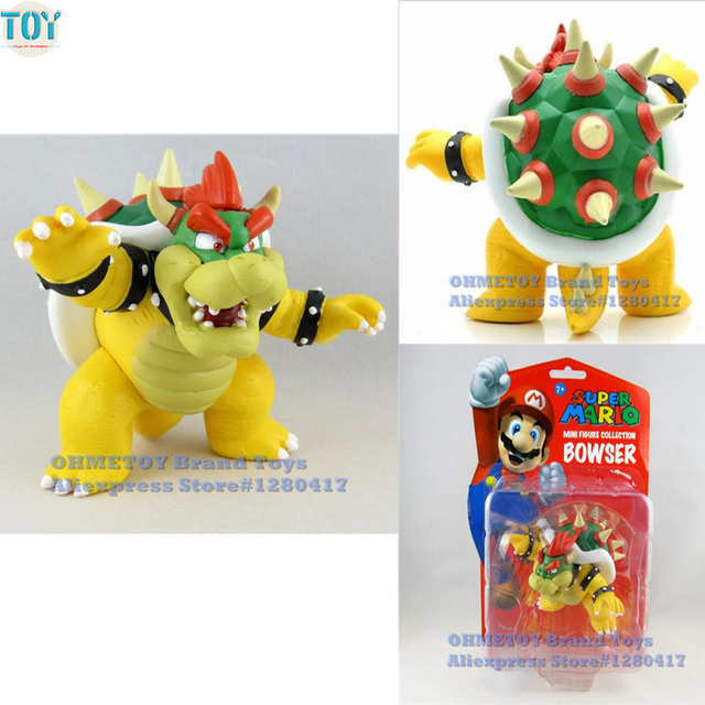OHMETOY Super Mario Koopa Bowser Toy Action Figure Doll Birthday Gift For Kids Boy Collection Cake Topper