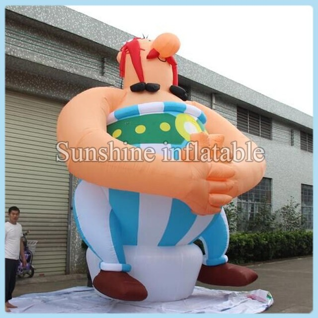 Giant inflatable Asterix Obelix cartoon for decoration