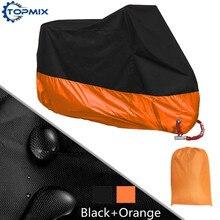L XL 2XL 3XL 4XL 190T Black+Orange Motorcycle Cover UV Protector Waterproof Rain Dustproof Anti-theft Moto Cover with Lock Holes