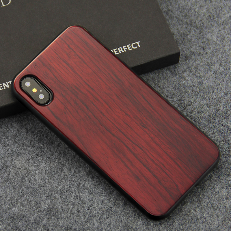 Iphone Xs Case | For IPhone X XS Case Ultra Thin Slim Phone Cases For Apple IPhone X 10 Real Wood & TPU Silicone Cover For IPhoneX Coque Fundas
