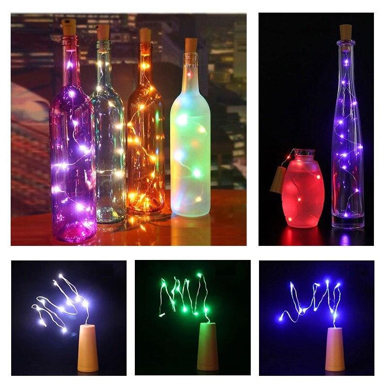 3PCS Wine Bottle Cork Shape Lights Party Festival Decorations Copper Wire String Night Lights for Warm romantic party decoration