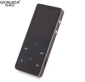 GERUIDA Bluetooth HIFI MP4 Player 8G Touch Key MP3 Languages Shatterproof Scratch Resistant Pedo Meter Recorder E-Book Armband