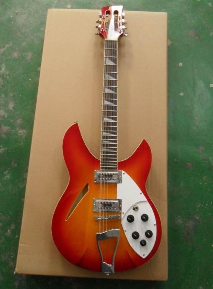 Guitare en gros Nouvelle Arrivée Rick... r 12 Cordes Guitare Électrique 330 Modèle Top Qualité Cherry Burst 131101