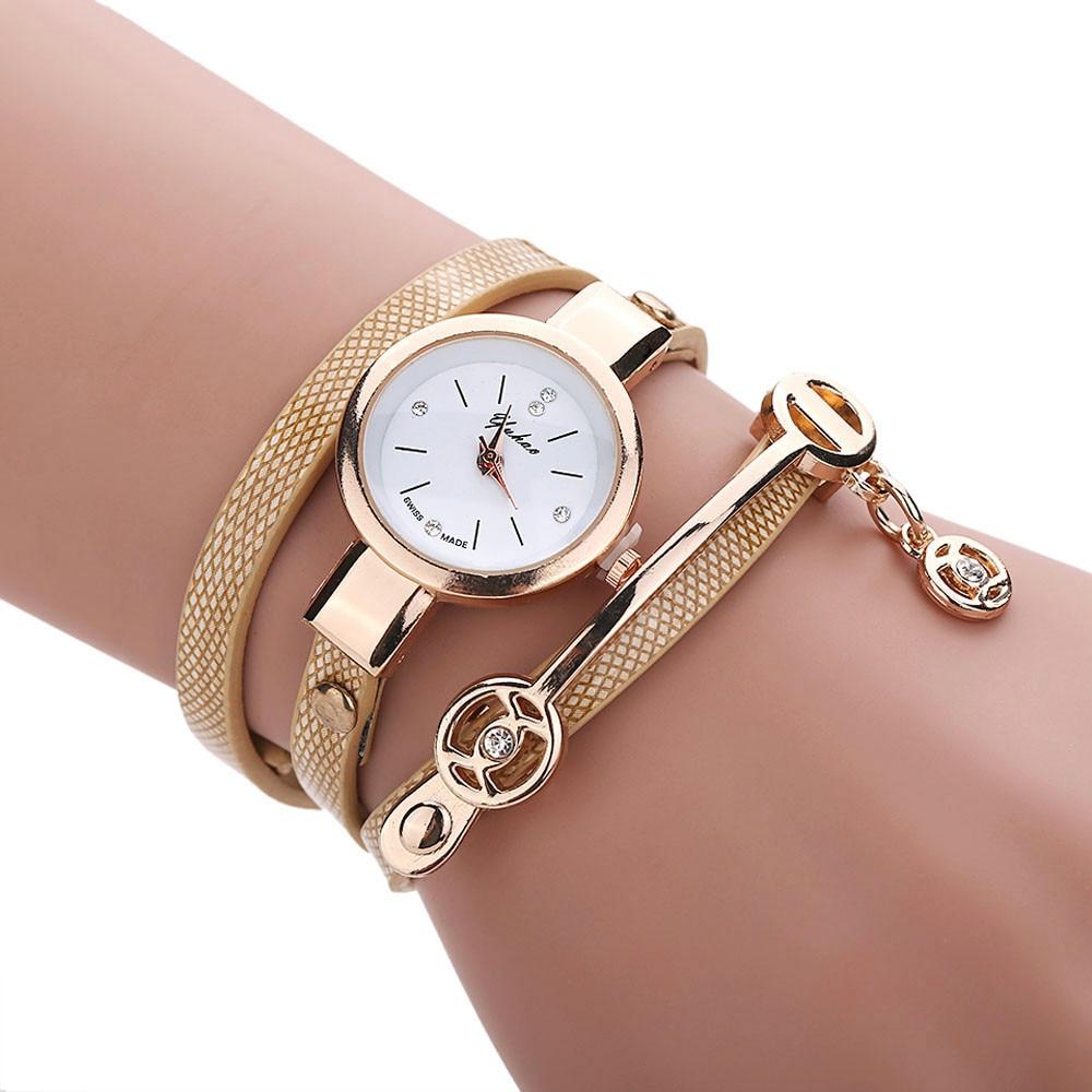 Wristwatches Clock Relogio Feminino Female Luxury Brand Leather Quartz Watch Women Ladies Casual Fashion Bracelet Wrist Watch #E