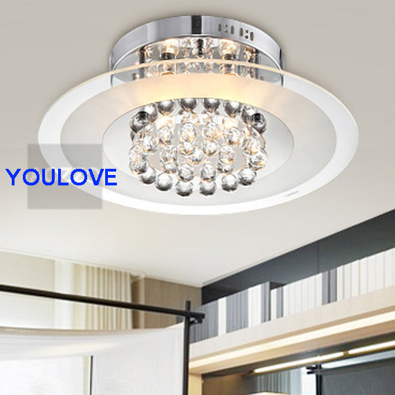 Modern Crystal Ceiling Lights Fixture Home Indoor Lighting Bed Room Dining Foyer Round Lamps