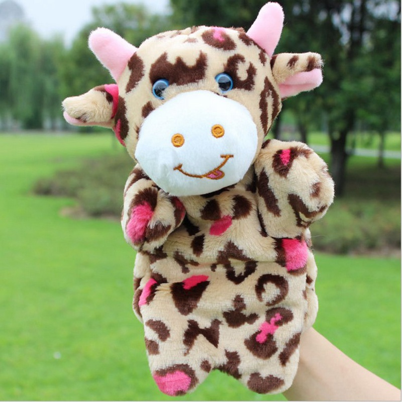 Hand-Puppets-Plush-Puppets-Elephant-Cow-Cat-Mouse-Monkey-Plush-Doll-Children-Educational-Toys-Brinquedo-Marionetes-Fantoche-1