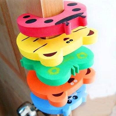 These door stop finger pinch guards will keep your child's little finger's safe.